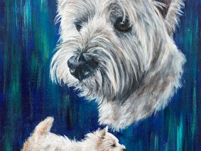 West Highland White Terrier (Westie) Painting