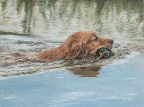 Golden Retriever Painting