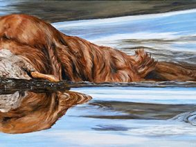 Labrador Retriever Painting