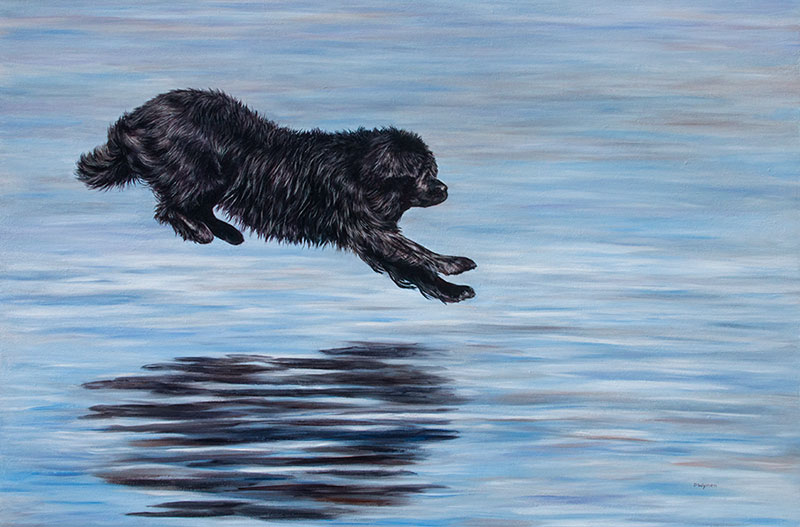 Newfoundland Dog Painting