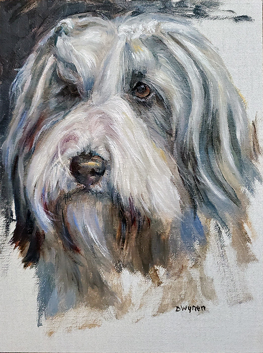 Bearded Collie Painting